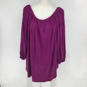 New Lauren Ralph Lauren Purple blouse size 1X